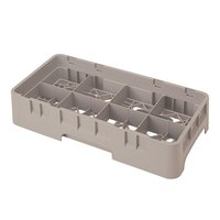 Cambro 8HS958184 Beige Camrack 8 Compartment Half Size 10 1/8 inch Glass Rack