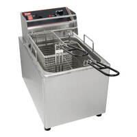 Grindmaster 08021L 8 7/8 inch x 4 3/48 inch x 6 5/8 inch Twin Fryer Basket with Front Hook