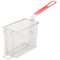 Cecilware 08021L 8 7/8 inch x 4 3/48 inch x 6 5/8 inch Twin Fryer Basket with Front Hook