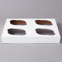 Southern Champion 10007 Cupcake Insert - Standard - Holds 4 Cupcakes - 10/Pack