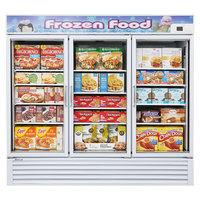 Turbo Air TGF-72F White 82 inch Glass Door Merchandising Freezer