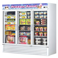 Turbo Air TGF-72F White Three Glass Door Reach In Merchandising Freezer - 72 Cu. Ft.