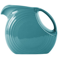 Homer Laughlin 484107 Fiesta Turquoise 2.1 Qt. Large Disc China Pitcher - 2/Case