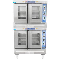 Bakers Pride GDCO-G2 Cyclone Series Natural Gas Double Deck Full Size Convection Oven - 120,000 BTU