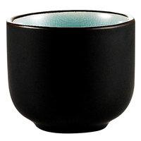 CAC 666-WC-BLU Japanese Style 1.5 oz. China Sake Cup - Lake Water Blue - 72/Case