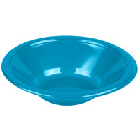 Creative Converting 28313151 12 oz. Turquoise Blue Plastic Bowl - 20/Pack
