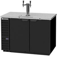 Beverage-Air DD50HC-1-B Double Tap Kegerator Beer Dispenser - Black, (2) 1/2 Keg Capacity