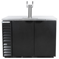 Beverage-Air DD50HC-1-B Double Tap Kegerator Beer Dispenser - Black, (2) 1/2 Keg Capacity