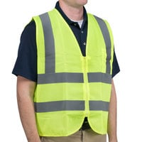 Lime Class 2 High Visibility Safety Vest - Large