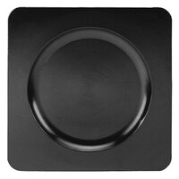 Tabletop Classics TR-6660 12 1/4 inch Black Square Acrylic Charger Plate
