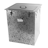 Delfield 203 Drop In Stainless Steel Ice Chest / Bin with Cover
