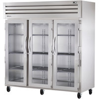 True STR3R-3G Specification Series Three Section Reach In Refrigerator with Glass Doors