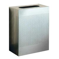 Rubbermaid FGSR18SSRB Silhouettes Stainless Steel Designer Rectangular Waste Receptacle - 40 Gallon