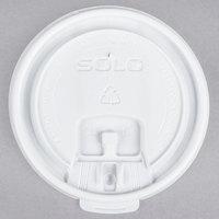 Dart Solo LB3101-0000710 oz. White Plastic Tear Tab Lid - 100/Pack