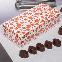 7 1/8 inch x 3 3/8 inch x 1 7/8 inch 1-Piece 1 lb. Leaf Candy Box - 250/Case