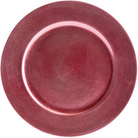 Tabletop Classics by Walco TRPK-6651 13 inch Pink Round Plastic Charger Plate