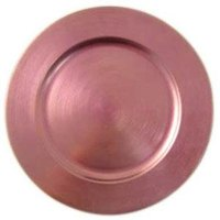 Tabletop Classics TRPK-6651 13 inch Pink Round Polypropylene Charger Plate
