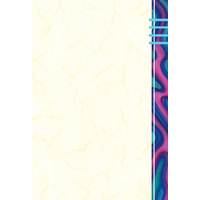 8 1/2 inch x 11 inch Menu Paper - Wave Border Right Insert - 100/Pack