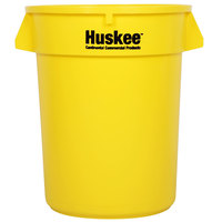 Continental 3200YW Huskee 32 Gallon Yellow Trash Can
