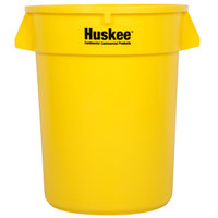 Continental 3200YW 32 Gallon Yellow Huskee Trash Can