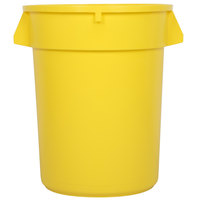32 Gallon Yellow Trash Can