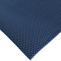 Cactus Mat 1041R-U3 Safety-Walk 3' Wide Blue Wet Area Mat - 1/4 inch Thick