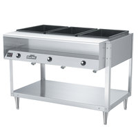 Vollrath 38003 ServeWell Electric Three Pan Hot Food Table 120V - Sealed Well