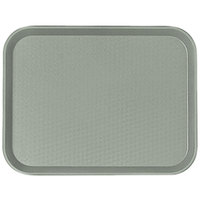 Cambro 1014FF107 10 inch x 14 inch Pearl Gray Customizable Fast Food Tray - 24/Case