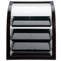 Cal-Mil P255-52 Westport Euro Style Three Tier Wood Trim Display Case with Rear Door - 17 inch x 17 inchx 18 inch