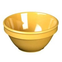 Thunder Group CR313YW 8 oz. Yellow Smooth Melamine Bouillon Cup - 12/Case