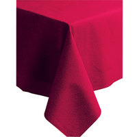 Hoffmaster 220831 50 inch x 108 inch Linen-Like Red Table Cover - 20/Case