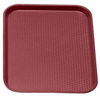 Cambro 1418FF416 Cranberry 14 inch x 18 inch Customizable Fast Food Tray 12/Case