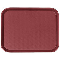 Cambro 1418FF416 14 inch x 18 inch Cranberry Fast Food Tray - 12/Case