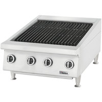 Garland GTBG24-NR24 Natural Gas 24 inch Radiant Charbroiler with Fixed Grates - 72,000 BTU