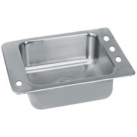 Advance Tabco SCH-1-2517L 1 Bowl Stainless Steel Drop-In Classroom Sink with Hole for Left Mounted Bubbler - 25 inch x 17 inch