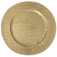 The Jay Companies 13 inch Crocodile Gold Melamine Charger Plate