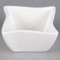 American Metalcraft SQVY1 Squavy 1.5 oz. White Wave Porcelain Condiment Cup