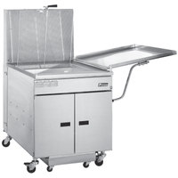 Pitco 24R-UFM-SSTC Liquid Propane 100-117 lb. Donut Floor Fryer with Built-in Filtration - 72,000 BTU