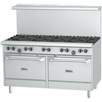 U.S. Range U60-6G24RR Liquid Propane 6 Burner 60 inch Gas Range with 24 inch Griddle and 2 Standard Ovens - 304,000 BTU