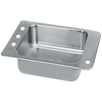 Advance Tabco SCH-1-2517R 1 Bowl Stainless Steel Drop-In Classroom Sink with Hole for Right Mounted Bubbler - 23 inch x 17 inch