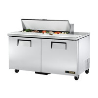 True TSSU-60-12-HC 2 Door Refrigerated Sandwich Prep Table