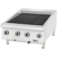 Garland GTBG48-AB48 Natural Gas 48 inch Ceramic Briquette Charbroiler with Adjustable Grates - 120,000 BTU