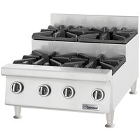 Garland GTOG24-SU4 Liquid Propane 4 Burner 24 inch Step-Up Countertop Range - 108,000 BTU