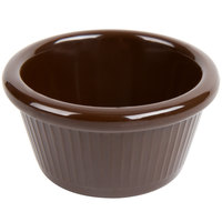 Carlisle S27969 2 oz. Chocolate Brown Fluted Melamine Ramekin   - 48/Case