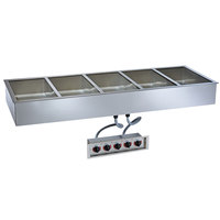 Alto-Shaam 500-HWILF/D4 5 Pan Drop-In Hot Food Well with Independent Controls and Large Flange - 4 inch Deep Pans, 208/240V