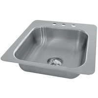 Advance Tabco SS-1-2321-7 1 Bowl Stainless Steel Drop-In Sink - 23 inch x 21 inch