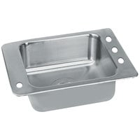 Advance Tabco SCH-1-3119L 1 Bowl Stainless Steel Drop-In Classroom Sink with Hole for Left Mounted Bubbler - 27 inch x 19 inch