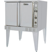 Garland SunFire Series SCO-GS-10S Natural Gas Single Deck Full Size Gas Convection Oven with 2 Speed Fan and Interior Lights - 53,000 BTU