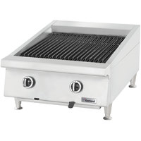 Garland GTBG60-AB60 Natural Gas 60 inch Ceramic Briquette Charbroiler with Adjustable Grates - 150,000 BTU
