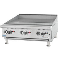 Garland GTGG72-G72M Liquid Propane 72 inch Countertop Griddle with Manual Controls - 162,000 BTU